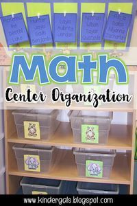 Math center organization tips and ideas! Classroom Set Up for Math Workshop. Great for kindergarten!