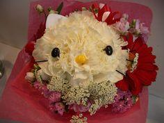 Tutorial para hacer arreglos de Hello Kitty. Mascotas florales.