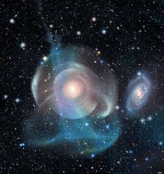 Shell galaxy NGC 474's beautiful and unique structure is not well understood but is probably the result of tidal stripping from galactic collisions over hundreds of millions of years. #astronomy