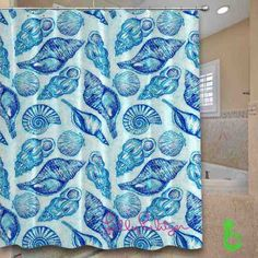 Cheap lilly pulitzer seashell pattern Shower Curtain