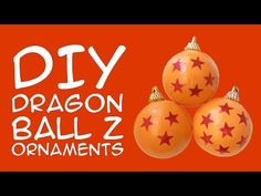 Have a Dragon Ball Z Holiday With These DIY Ornaments. Craft yourself an anime holiday with DIY Dragon Ball Z ornaments. Come to think about it, these Dragon. Christmas Crafts For Kids, Diy Christmas Ornaments, Christmas Bulbs, Christmas Decorations, Christmas Ideas, Paper Decorations, Birthday Party Decorations, Pokemon, Anime Crafts