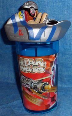 Star Wars Star Ship Straw Cup by Lucasfilm LTD. Zak Designs Spokane WA Rare  D5