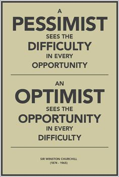 Wiston Churchill Pessimist and Optimist