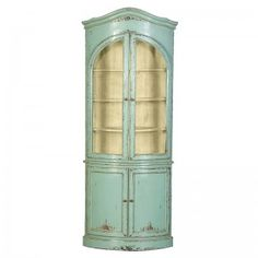Etienne Heavy Distressed Turquoise 3 Door Dresser Base
