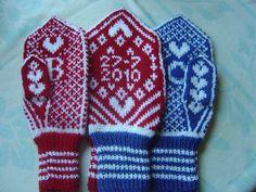 Som dagene går: Kjærestevotter Mittens, Crocheting, Knit Crochet, Gloves, Knitting, Gifts, Fingerless Mitts, Crochet, Presents