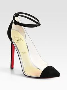 Christian Louboutin Opaque Suede Trim Point Toe Pumps
