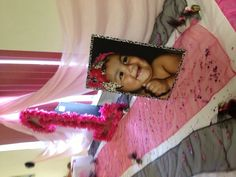 Picture on gift table tutus and tiaras princess 1st birthday