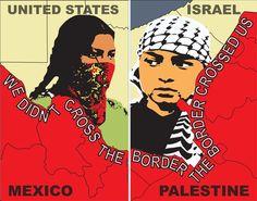We Didn't Cross the Border, The Border Crossed Us  Artist: Monica Villarreal