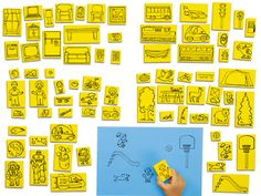 Create-a-Scene Stamp Set at Lakeshore Learning