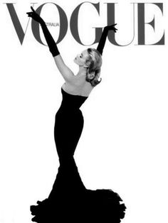 Vintage Vogue cover || Love how elegant this is and how the lack of copy ads to that.