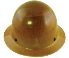 MSA Natural Tan Class G Type I Skullgard Phenolic Hard Hat With Staz-On Pinlock Suspension
