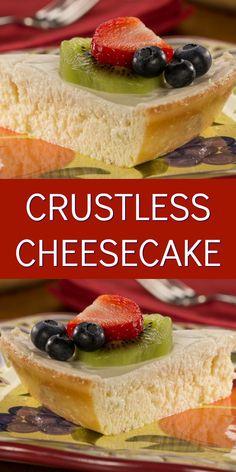 Crustless Cheesecake is a lighter version of your favorite restaurant-style dessert!