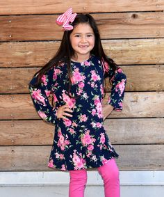 This Navy Rose Tunic Dress - Infant, Kids & Tween is perfect! #zulilyfinds