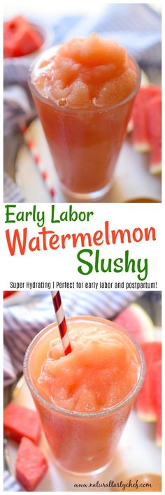 A healthy and delicious watermelon slushy recipe that's naturally sweetened and totally refreshing. The added coconut water makes it incredibly hydrating and perfect for pre or post labor. This slushy is a real treat. Especially when your watermelon is perfectly ripe. It's almost like a Slurpee that got a super healthy makeover. I hope you enjoy it. 🙂 Anti Candida Diet, Candida Diet Recipes, Chef Recipes, Whole Food Recipes, Snack Recipes, Healthy Recipes For Weight Loss, Easy Healthy Recipes, Slushies, Slurpee