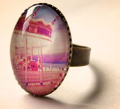 Carnival Carousel Glass Ring  Choose by misanthropycreations, $16.00