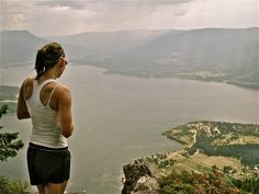 Shuswap Lake, wonderful view from the top of Bastion mountain Bc Canada Salmon arm