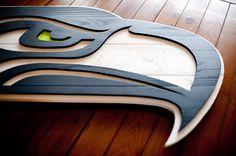 Seattle Seahawks Wood Flag Seattle Seahawk Wooden by PatriotWood