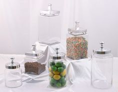 We have 3 of these circular French candy jars