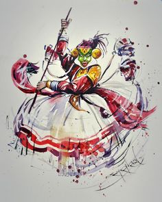 Dress Painting, Mural Painting, Fabric Painting, Dance Paintings, Indian Art Paintings, Watercolor Paintings For Beginners, Watercolor Art, Krishna Art, Krishna Images