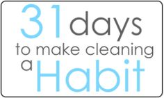 31 Days to Make Cleaning a Habit - Change Your Air Filer on the 1st of Every Month - iDreamOfClean. The second one ill be doing in January.  This one will be tough, but that's why I picked it :-/