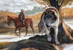 Bran Stark and Summer by Smirtouille