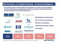 Information about Best Practices, LLC's Digital Marketing Consortium - a group of like-minded peers that seek to uncover cross-industry benchmarks and best practices in digital marketing. http://www.slideshare.net/bestpracticesllc/slide-share-digital-marketing-ch-presentation