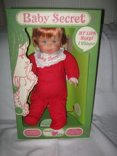 1965 BABY SECRET Doll - Original Box - Whispers Several Phrases-Excellent Cond.