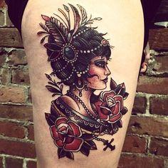 side profile tattoo
