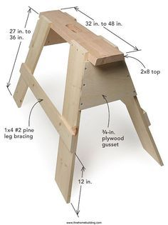 Building Sturdy Sawhorses #woodworkingprojects