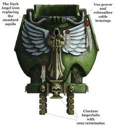 "mael–radec:  wh40khq:  Equipment of the Supreme Grand Master Azrael   ""Pinions of Triumph"" XD"