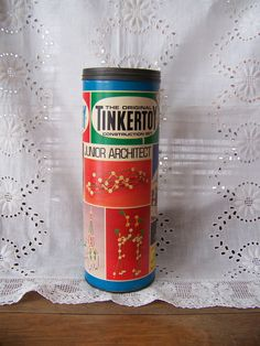 Vintage Tinkertoys in Original Box Construction Set. Tinker Toys, Building Toys, Krystal, Cool Kids, Etsy Vintage, Gift Wrapping, Construction, Rainbow, Etsy Shop