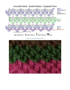Crocodile stitch tutorial