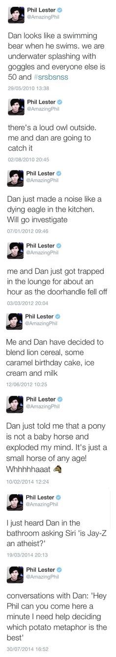 i love their relationship whatever it is, but srsly phil it's Dan and I not me and Dan