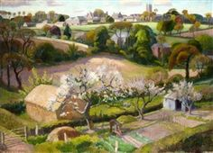 Adrian Allinson 1890-1959: Landscape with Blossoms