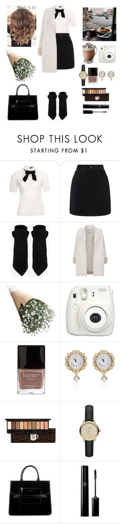 """""""Rainy city"""" by valley-g ❤ liked on Polyvore featuring The Kooples, rag & bone, Yves Saint Laurent, Max & Moi, Fujifilm, Butter London, Dolce&Gabbana, Etude House, Burberry and Marc Jacobs"""
