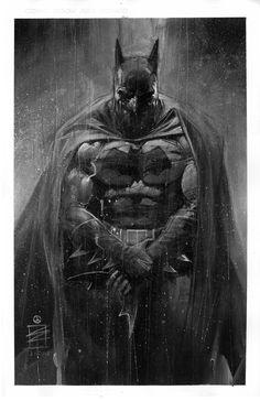 batman comic art | ... artist Eddy Newell has created these awesome Black & White Batman Art