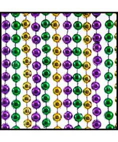 beads for your centerpiece; other sizes available......7mm Beads 33-inch Metallic PGG (48)