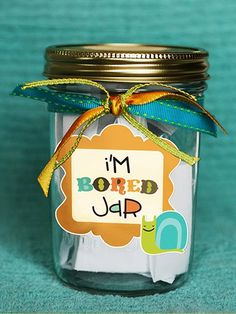 """Great idea for the kids. 101 Ideas on a Popsicle Stick for an ''I'm Bored"""" Jar Bored Jar, Im Bored, Bored Kids, Pot Ennuyé, Summer Activities, Craft Activities, Fun Crafts, Crafts For Kids, Popsicle Sticks"""