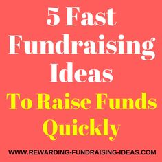 Want 5 fundraising ideas that are quick to get going? Sometimes, time is of the essence & these fundraisers are just what you need to get a quick start...