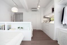 Whitely Open Plan by Kin Fu - 350 square foot micro apartment