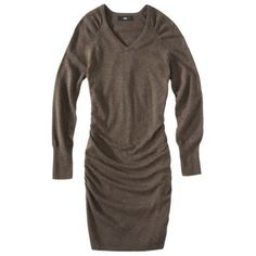 Mossimo® Women Ultrasoft Ruched Long Sleeve Sweater Dress - Assorted Colors