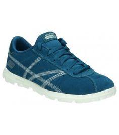 SKECHERS 13722-BLU Adidas Samba, Skechers, Adidas Sneakers, Urban, Shoes, Fashion, Slippers, Over Knee Socks, Moda