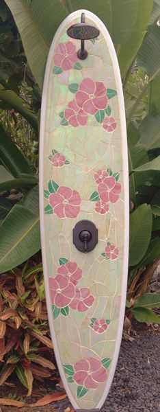 www.tropical-artist.com Pua Power outdoor shower. More of my art