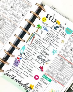 Self care checklist for my wellness section! Planner Tips, Planner Layout, Goals Planner, Planner Pages, Planner Stickers, Planner Board, Planner Supplies, Bujo, Mini Happy Planner
