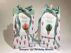 Stamping to Share: Stampin' Up! Birthday Blooms Gift Bag and Tag with How To Video