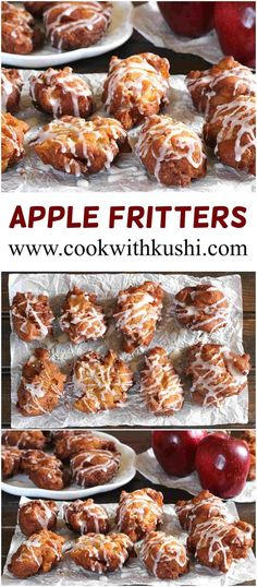 To me apple fritters are a Xmas thing. Apple Fritters are crunchy and light, sweet and tart fried snacks that will literally melt in your mouth. It is served with a light drizzle of sugar glaze making these perfect little fall treats. Fruit Recipes, Apple Recipes, Brunch Recipes, Fall Recipes, Baking Recipes, Breakfast Recipes, Bread Recipes, Dessert Recipes, Italian Desserts