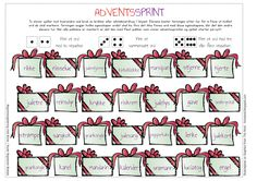 adventssprint Words, Christmas, Grammar, Art, Xmas, Weihnachten, Yule, Jul, Noel