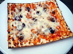 le hamburger et le croissant: Matsah pizza