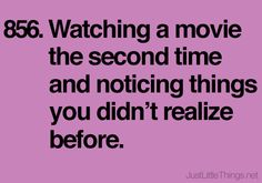watching a movie a second time