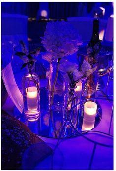 blue up lighting @Mandy Dewey Seasons Bridal
